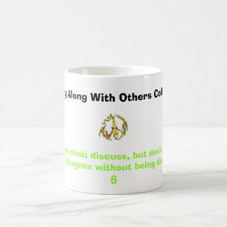 la gente del signo de la paz, guarda una mente taza de café
