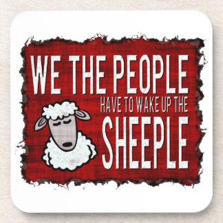 La gente despierta Sheeple Posavasos De Bebidas