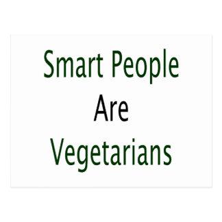 La gente elegante es vegetarianos postal