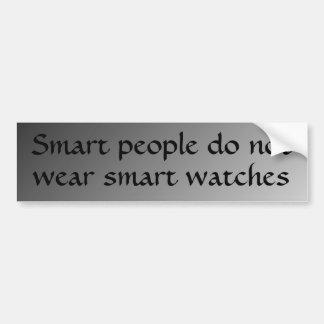 La gente elegante no lleva los relojes elegantes pegatina para auto
