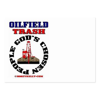 La gente elegida de dios, basura del campo petrolí tarjetas de negocios