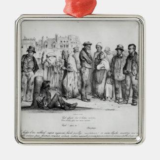 La gente Emancipated, del 'La Caricature Adorno Navideño Cuadrado De Metal
