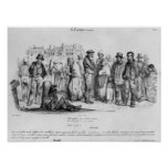 La gente Emancipated, del 'La Caricature Poster