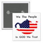 La gente en dios nosotros confiamos en el botón