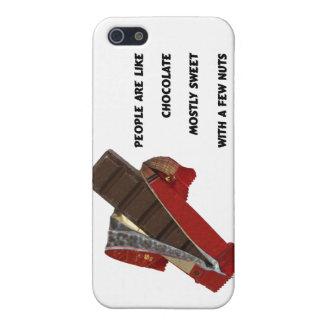 la gente es como el chocolate iPhone 5 carcasa