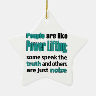 La gente es como la elevación del poder adorno navideño de cerámica en forma de estrella