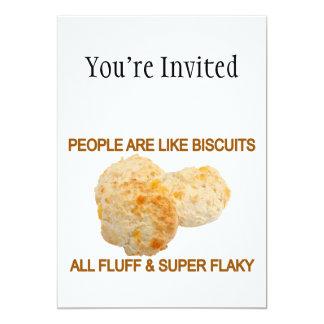 """La gente es como las galletas invitación 5"""" x 7"""""""