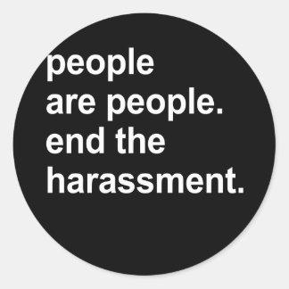 la gente es gente etiquetas redondas