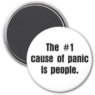 La gente es la causa de la mayoría de los problema imán redondo 7 cm
