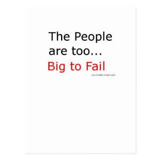 ¡La gente es también fall demasiado grande! Tarjeta Postal