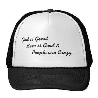 La gente está loca gorras de camionero