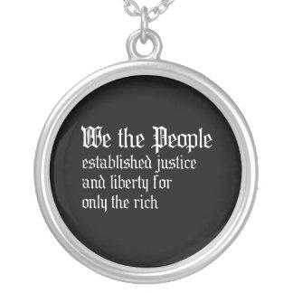 La gente establecemos la justicia y la libertad pa joyería