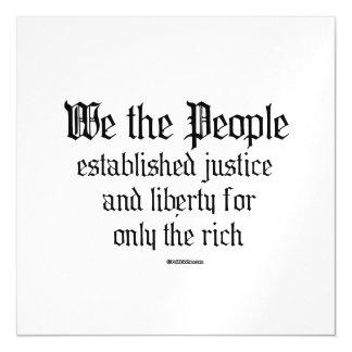 La gente establecemos la justicia y la libertad