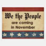 La gente estamos viniendo en noviembre