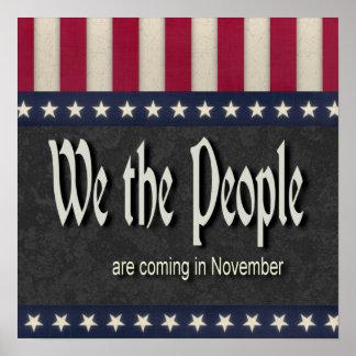 La gente estamos viniendo en noviembre póster