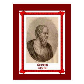 La gente famosa, Sócrates murió 415 A.C. Tarjetas Postales