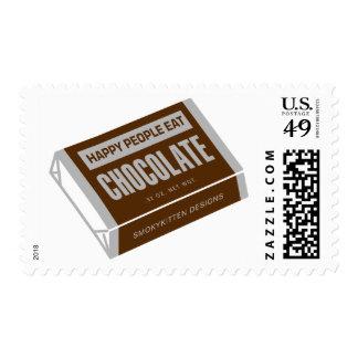 La gente feliz come el chocolate sellos