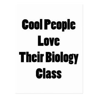 La gente fresca ama su clase de Biología Tarjeta Postal