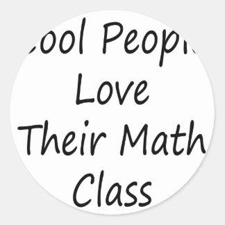 La gente fresca ama su clase de la matemáticas etiqueta