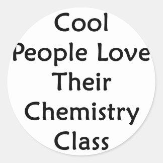 La gente fresca ama su clase de química pegatinas