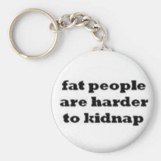 la gente gorda es más dura secuestrar keychain. llaveros personalizados