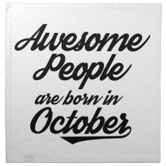 La gente impresionante nace en octubre servilleta de papel