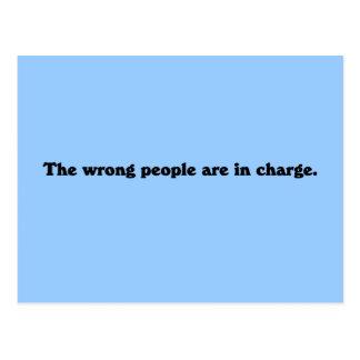 La gente incorrecta es responsable postal