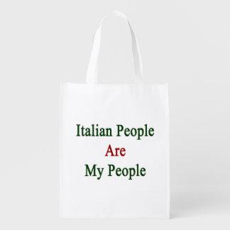 La gente italiana es mi gente bolsas de la compra