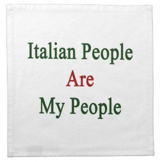 La gente italiana es mi gente servilletas imprimidas