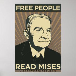 La gente libre leyó el poster de Mises