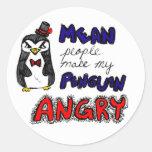 """La """"gente mala hace mi pingüino"""" al pegatina enoja"""