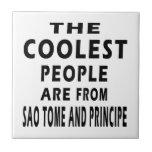La gente más fresca es de Sao Tome and Principe Azulejo