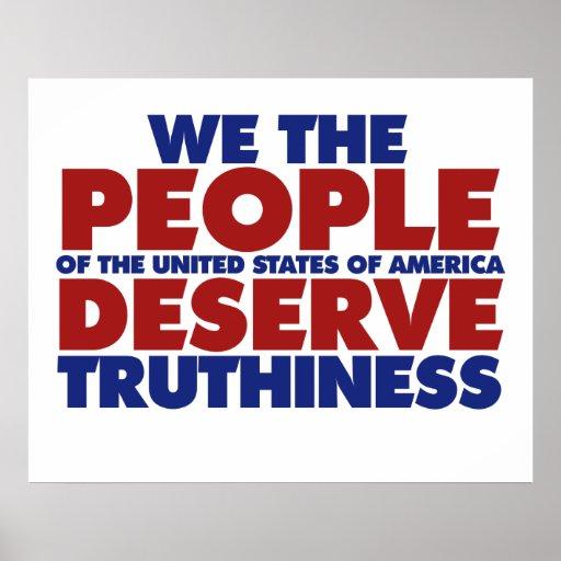 La gente merecemos truthiness impresiones