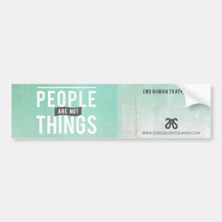 La gente no es cosas pegatina para el parachoques etiqueta de parachoque