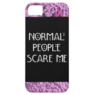 La gente normal me asusta caso de Iphone 5/5S iPhone 5 Case-Mate Cárcasas