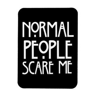 La gente normal me asusta imán flexible