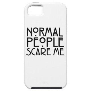 la gente normal me asusta iPhone 5 carcasa