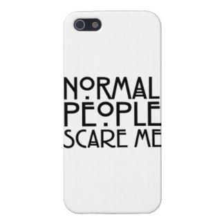 La gente normal me asusta iPhone 5 carcasas
