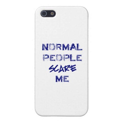 La gente normal me asusta iPhone 5 funda