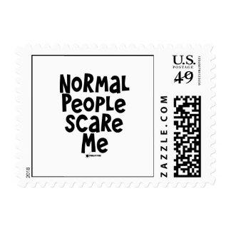 La gente normal me asusta sellos