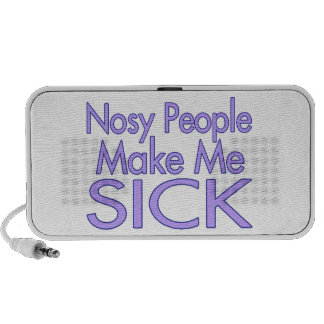 La gente Nosy me hace enfermo Notebook Altavoces