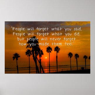 La gente nunca olvidará cómo usted hizo que ella impresiones