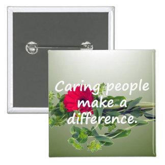 La gente que cuida diferencia pin