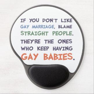 La gente recta está teniendo bebés gay alfombrilla con gel