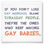 La gente recta está teniendo bebés gay fotografía