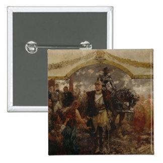 La gente rinde homenaje a Bismarck, 1911 Pin Cuadrada 5 Cm