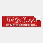 La gente somos pegatinas soberanos etiqueta de parachoque