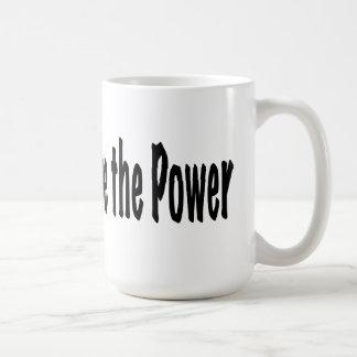La gente tiene el poder taza de café