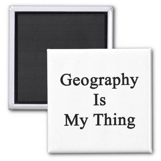 La geografía es mi cosa imanes de nevera