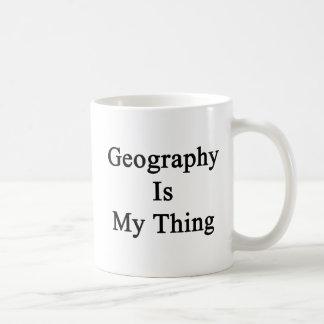 La geografía es mi cosa taza clásica